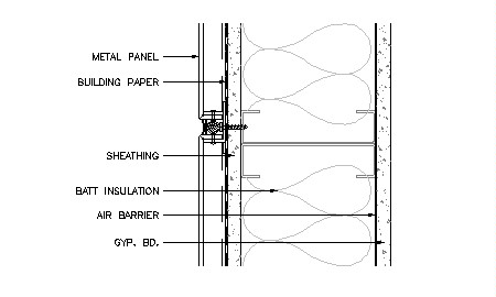 wall stud framing details building envelope thermal moisture analysis